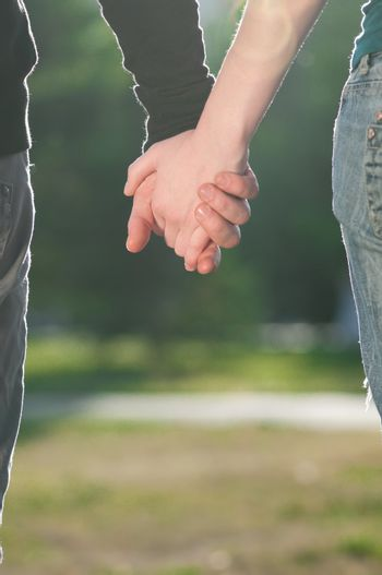 Concept of friendship and love of man and woman