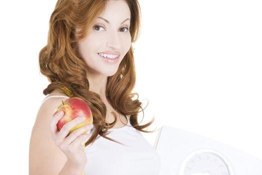 Dieting woman portrait