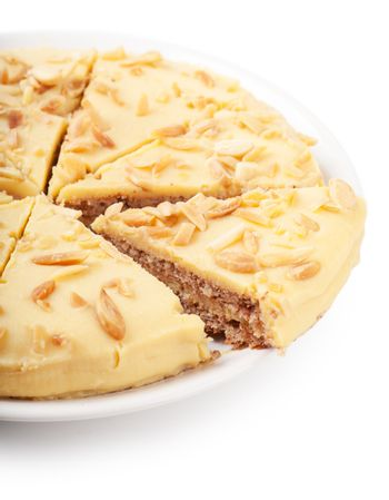 Closeup view of pieces of sweet pie