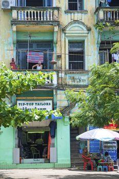 building in yangon myanmar