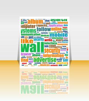 Word Cloud Social Network. Internet. Community. Flyer or Cover Design