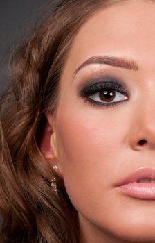 Close-up portrait of elegance glamour woman