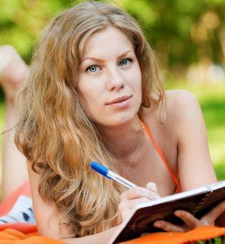 Beautiful young woman study