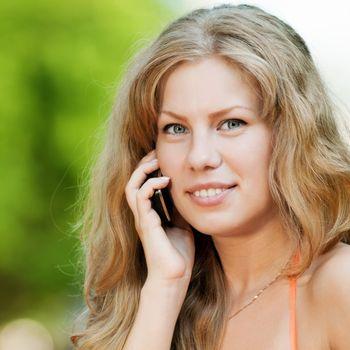 Woman talking mobile phone