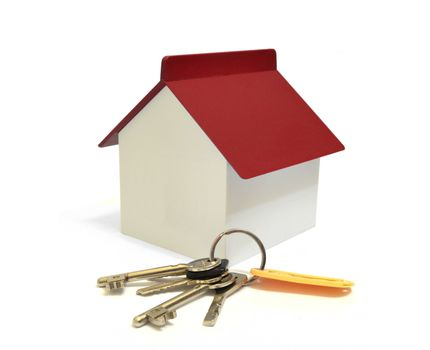 House with keys, home ownership concept