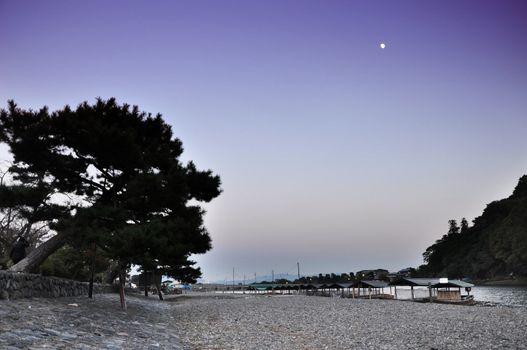 Twilight shot of Arashiyama,a touristic area
