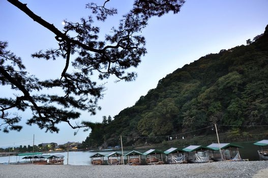 Arashiyama,a touristic area in the north west part of Kyoto, Jap
