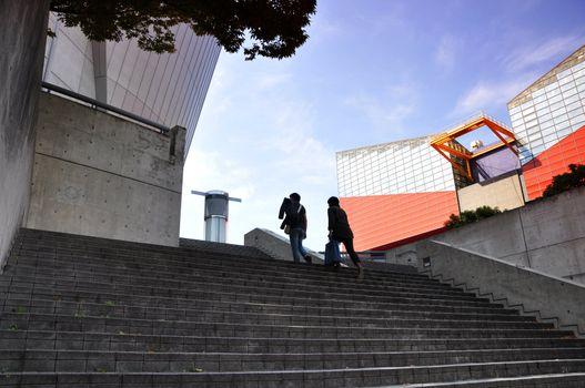 KYOTO- OCT 23: Osaka Aquarium near Tempozan Harbor Village - Osaka, Japan on October 23 2012.
