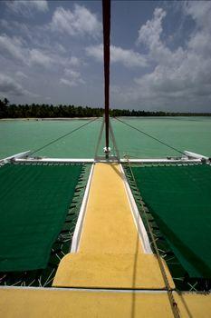 tropical lagoon catamaran navigable   in republica dominicana