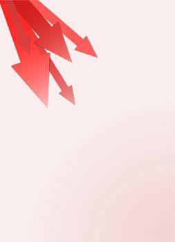 reddish arrows background