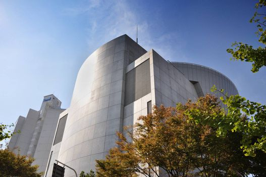 KYOTO- OCT 23: Suntory museum near Tempozan Harbor Village - Osaka, Japan on October 23 2012.