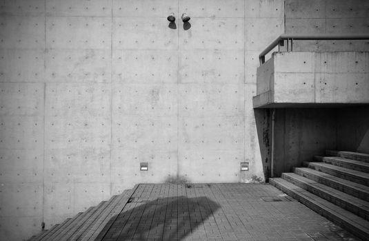 Bare concrete architecture
