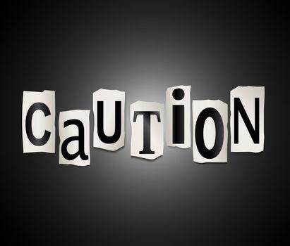 Caution concept.
