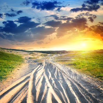Country road in desert