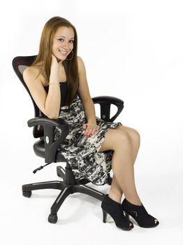 smiling sitting teen