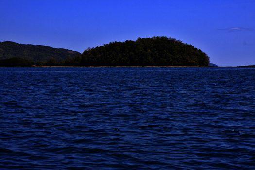 navigable  lagoon and coastline