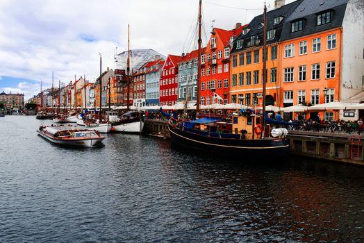 Nyhavn at Copenhagen Denmark