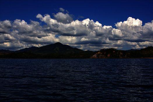 navigable  foam lagoon and coastline