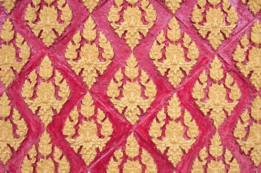 Thai stucco pattern style on wall