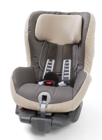 booster seat for a car in light background. studio shot without kid