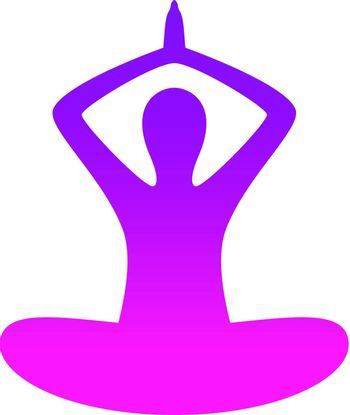 Vector Female silhouette in yoga pose ( pink )