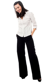 Casual asian businesswoman posing