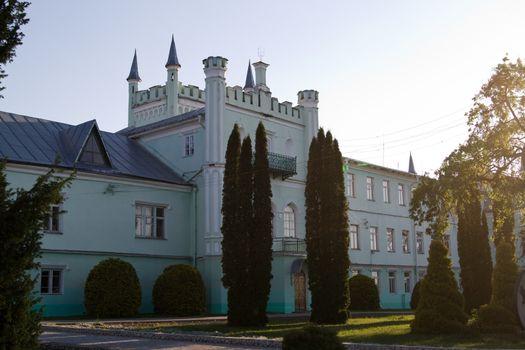 Berezhany, Ukraine - May 17  Belokrynytsky Palace - a building located in the village Bilokrynytsia  Now the Palace is Kremenetskiy Forestry College