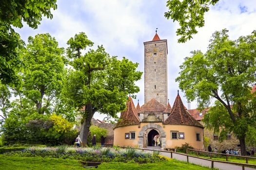 castle gate rothenburg