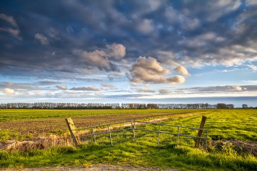 beautiful farmland before sunset