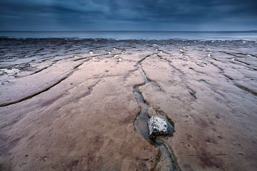 mud texture at low tide on North sea