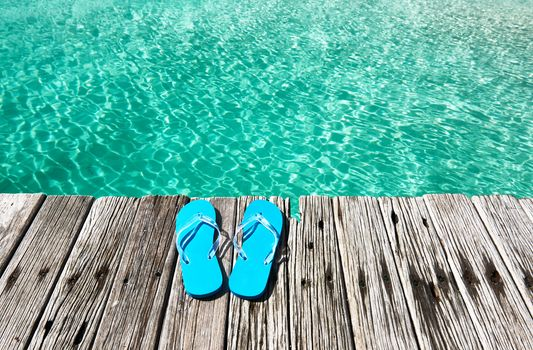 Slippers at jetty