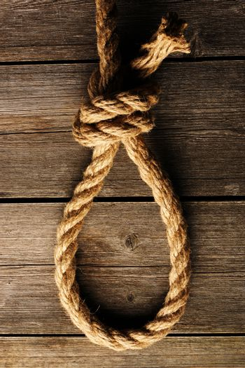Rope noose with knot
