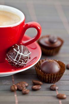 Espresso and chocolates