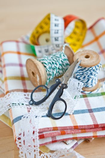 Colorful sewing utensils