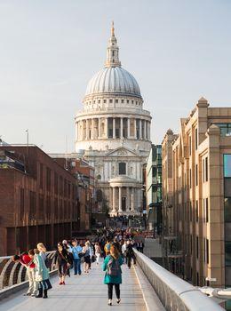 St Pauls Cathedral Church London Millenium Bridge