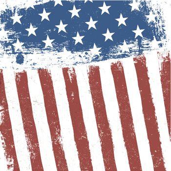 American flag grunge background. Vector, EPS10