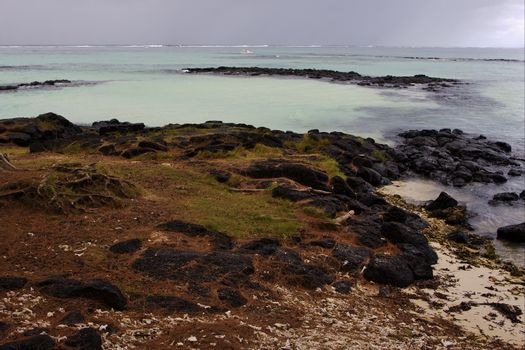 stone in belle mare mauritius