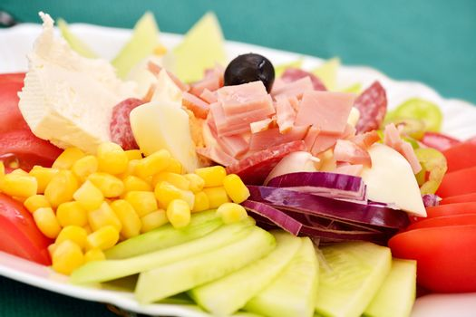 A mixed salad typical for the Balkan region