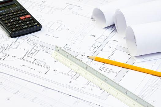 Blueprint of architecture