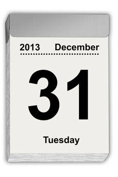 tear off calendar December 31, 2013