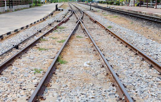 Raiway track crossing