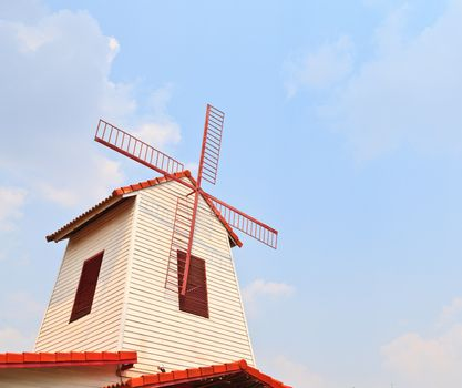 Windmill over the roof