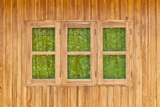 Wood wall with windows