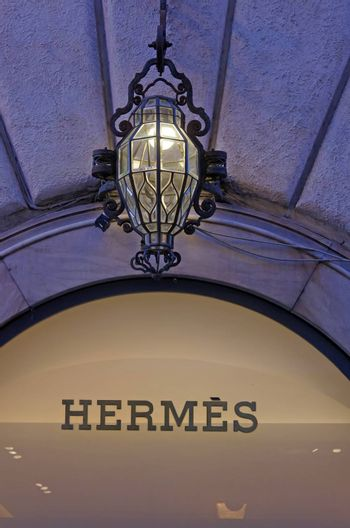 ROME, ITALY - MARCH 08: Hermes fashion store on Via del Condotti in Rome on March 08, 2011 in Rome, Italy