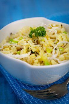 Vegetarian  Leek risotto