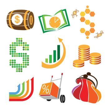 collection of vector icons of finance, money