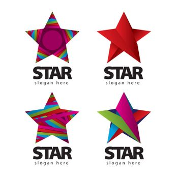 collection of vector logo with a star
