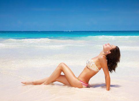 Sexy female on the beach