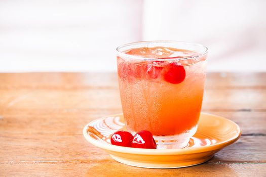 Chill out with iced mix fruits juice soda