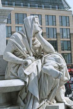 Allegory of Philosophy of Schiller Monument in Berlin